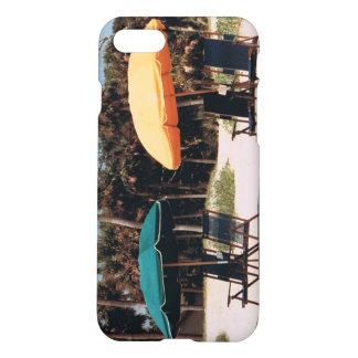 iphone case with umbrella beach scene