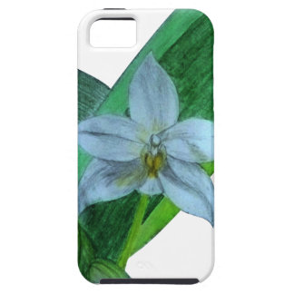 iPhone Case with White Terrestrial Orchid