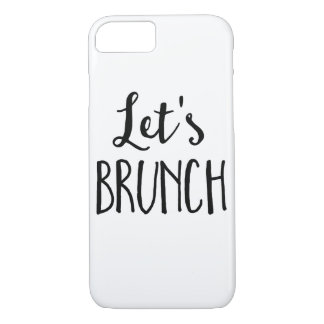 iPhone Case with with Let's Brunch