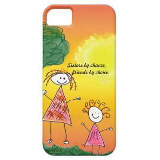 iPhone Cases  Sisters by chance, friends by choice iPhone 5 Case