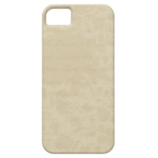 IPhone Cover Beige Floral Script iPhone 5 Covers