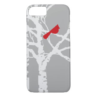 iPhone cover.  Cardinal on tree branch. iPhone 8/7 Case