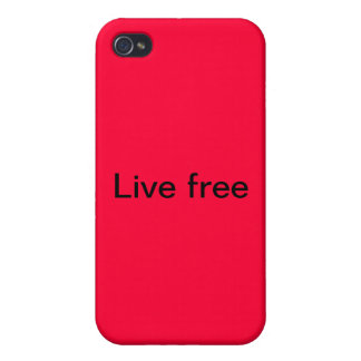 iPhone cover Live free Cases For iPhone 4