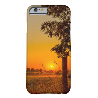 iPhone cover with a countryside sunrise