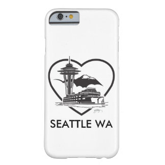 iPhone cover with a graphic of Seattle