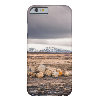 iPhone cover with a rocky landscape