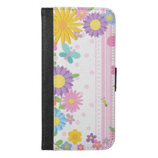 iPhone de caisse de portefeuille de fleurs