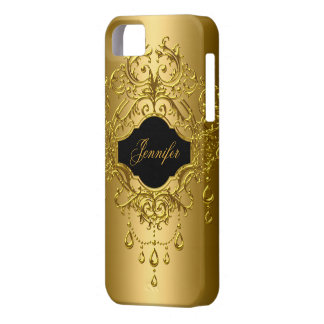 iPhone Elegant Classy Gold Black Case For The iPhone 5