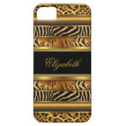 iPhone Elegant Classy Gold Mixed Animal Print iPhone 5 Case