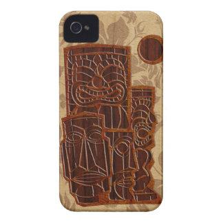 iPhone en bois de planche de surf de Koa Tiki Sun  Étui iPhone 4