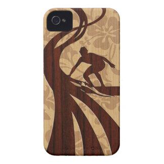 iPhone en bois de planche de surf de surfer de Koa