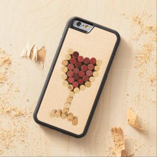 iPhone en verre de vin de lièges et caisse en bois Coque iPhone 6 Bumper En Érable