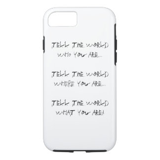 iPhone hard shell case - It's Who You Are!