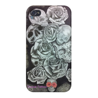 Iphone layer 4 - Skulls iPhone 4/4S Cover