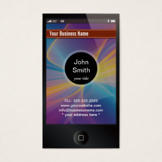 iPhone Look Alike Dark Business Card