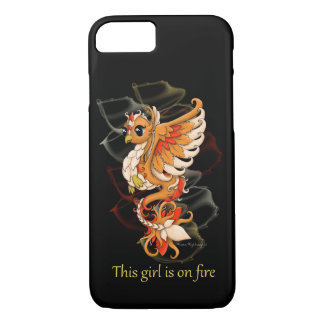 iPhone Phone Case Phoenix Girl on Fire