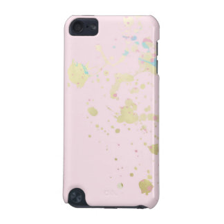 iphone pink paint splatter love gift pretty design iPod touch (5th generation) cover