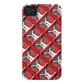 iPhone rouge 4 de hippie de hibou et cadeau du cas Coque iPhone 4 Case-Mate