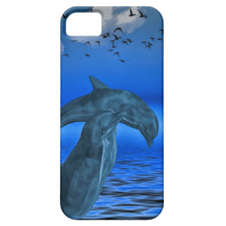 iPhone SE + iPhone 5/5S, Barely There: dolphins Case For The iPhone 5