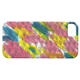 iPhone SE + iPhone 5/5S Colourful Pattern Leaves iPhone 5 Case