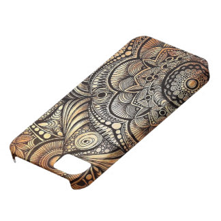 iPhone SE + iPhone 5/5S, Henna doodle Case For The iPhone 5