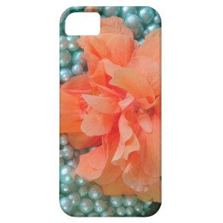 iPhone SE Orange Hibiscus on Beads iPhone 5 Case