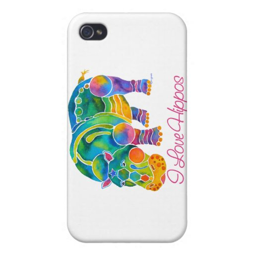 iPhone Skin Most Popular I Love HIPPOS iPhone 4/4S Covers