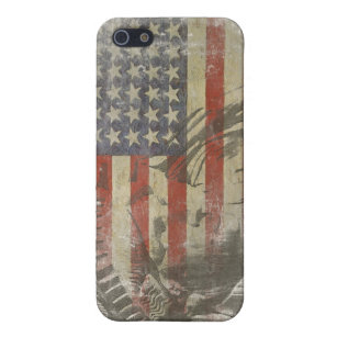 iPhone Skin Statue of Liberty on Old American Flag iPhone 5 Cover