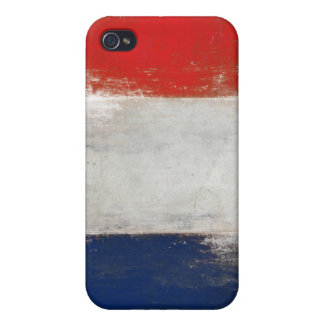 iPhone Skin with Dirty Vintage French Flag iPhone 4/4S Cases