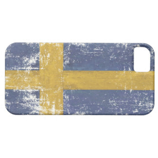 iPhone Skin with Distressed Flag from Sweden iPhone 5 Case