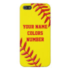 iPhone Softball Cases Personalized Text and