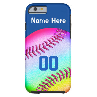 iPhone Softball Cases Your NAME, NUMBER, COLORS