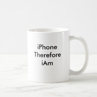 iPhone Therefore iAm Coffee Mug