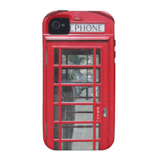 iPhone Tough: Classic red telephone box photo Vibe iPhone 4 Covers