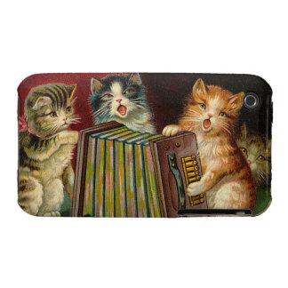 iPhone - Vintage Singing Kittens illustration Case-Mate iPhone 3 Cases