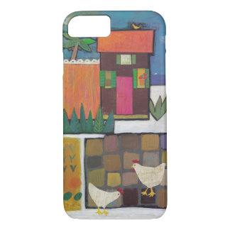 Iphone with charming scene with chickens iPhone 7 case
