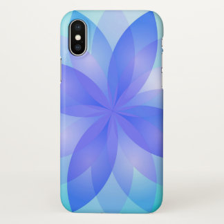iPhone X Case Abstract Lotus Flower