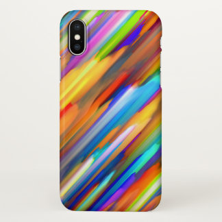 iPhone X Case Colorful digital art splashing G391