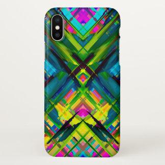 iPhone X Case Colorful digital art splashing G467