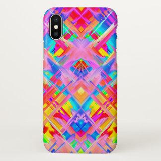 iPhone X Case Colorful digital art splashing G470