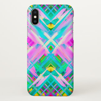 iPhone X Case Colorful digital art splashing G473