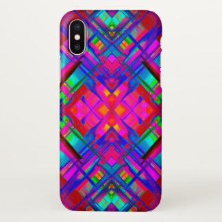 iPhone X Case Colorful digital art splashing G483