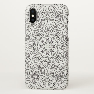 iPhone X Case Drawing Floral Doodle G2
