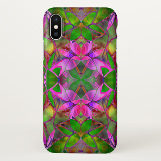 iPhone X Case Floral Fractal Art