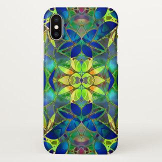 iPhone X Case Floral Fractal Art