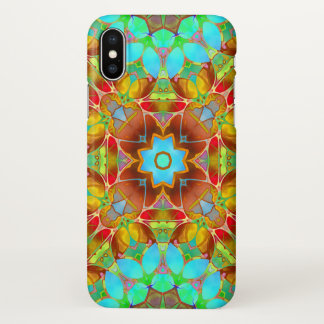 iPhone X Case Floral Fractal Art G410