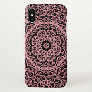 iPhone X Case Floral Wrought Iron G93