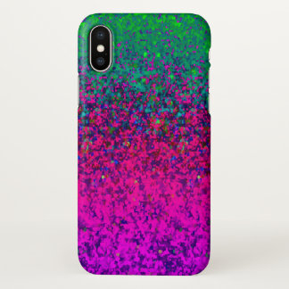iPhone X Case Glitter Dust Background