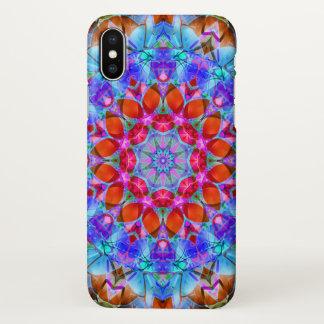 iPhone X Case kaleidoscope Diamond Flower G408