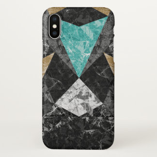 iPhone X Case Marble Geometric Background G430